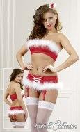 Dámské vánoční erotické prádlo: Vánoční set Cottelli (podprsenka a kalhotky)