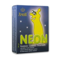 Kondomy svítící ve tmě: Svítící kondomy Amor NEON