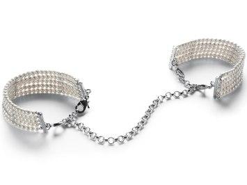 Perlová pouta - náramky, bílá