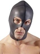 Masky na hlavu, kukly a šátky: Černá neoprenová maska se třemi otvory