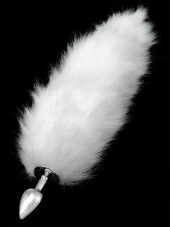 Anální kolík liščí ocásek (bílý)
