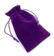 Dárkové balení - pytlíčky, krabičky a tašky: Dárkový sametový pytlík, fialový (9x12 cm)