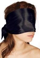 Masky, kukly a šátky na hlavu: Bondage saténový šátek, černý