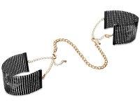 Vzrušující intimní šperky, ozdoby a bižuterie: Pouta - náramky Désir Métallique, černá
