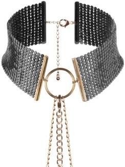 Obojek - náhrdelník Désir Métallique, černý