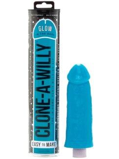 Odlitek penisu Clone-A-Willy Glow-in-the-Dark Blue - vibrátor