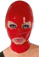 Dámské latexové oblečení: Červená latexová maska