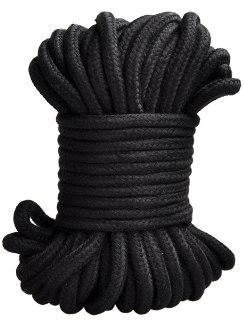 Lano na bondage, 20 m (černé)