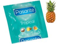 Kondomy s příchutí: Kondom Pasante Tropical Pineapple, ananas