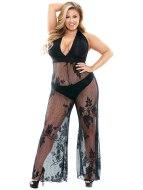 Catsuity a celotělové overaly: Catsuit Nicki s nohavicemi a hlubokým výstřihem