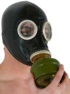 Latexové pomůcky a doplňky: Latexová plynová maska