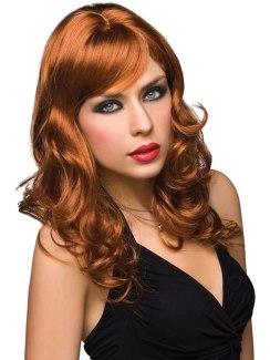 Paruka Aubrey - zrzavá barva