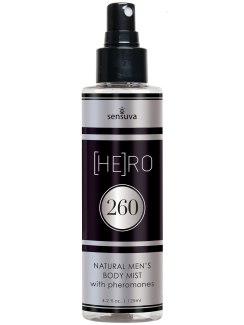 Tělová mlha s feromony pro muže (HE)RO 260 (Sensuva)
