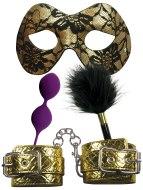 Pomůcky na lehké, něžné SM: Sada erotických pomůcek pro bondage Masquerade Party