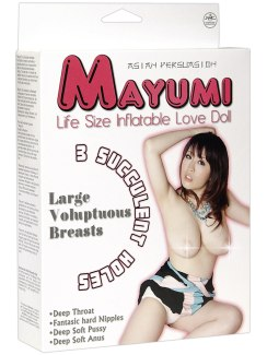 Nafukovací panna Mayumi se třemi otvory