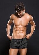 Pánské boxerky, jocksy, slipy a tanga: Černé boxerky s bílým proužkem