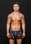 Pánské boxerky, jocksy, slipy a tanga: Šedé boxerky s maskáčovým vzorem