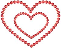 Vzrušující ozdoby a samolepky na bradavky: Samolepicí ozdoby na prsa MIMI Heart (Bijoux Indiscrets)
