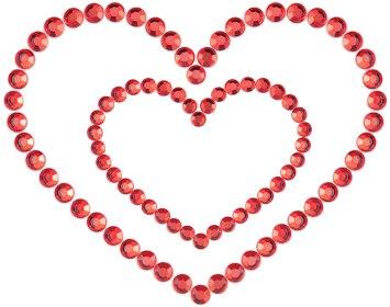 Samolepicí ozdoby na prsa MIMI Heart (Bijoux Indiscrets)