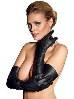 Dlouhé kožené rukavice