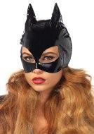 Škrabošky, čelenky a masky: Lakovaná maska s kočičíma ušima Cat Woman