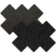 Vzrušující ozdoby a samolepky na bradavky: Samolepky na bradavky Black Cross (Nippies)