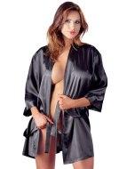 Noční košilky a negližé: Saténové kimono s krajkovým zadním dílem