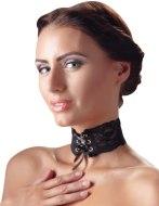 Vzrušující intimní šperky, ozdoby a bižuterie: Ozdobný krajkový obojek se šněrováním