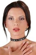 Vzrušující intimní šperky, ozdoby a bižuterie: Tenký ozdobný obojek se štrasovými kamínky