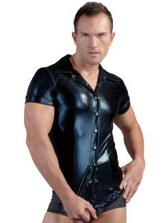 Lesklá pánská košile s krátkými rukávy