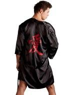 Doplňky k pánskému erotickému prádlu: Luxusní pánské saténové kimono