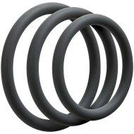 Nevibrační erekční kroužky: Sada tenkých erekčních kroužků OptiMALE Thin (3 ks)