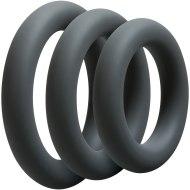 Erekční škrtící kroužky bez vibrací: Sada tlustých erekčních kroužků OptiMALE Thick (3 ks)