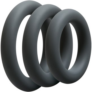 Sada tlustých erekčních kroužků OptiMALE Thick (3 ks)