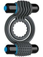 Vibrační erekční kroužky na penis: Dvojitý vibrační erekční kroužek OptiMALE