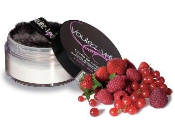 Třpytivý jedlý tělový pudr Lady Snow Červené ovoce