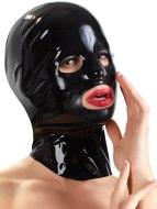 Dámské latexové oblečení: Unisex latexová maska - anatomicky tvarovaná
