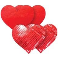 Vzrušující ozdoby a samolepky na bradavky: Samolepicí ozdoby na bradavky Red Heart (Nippies)