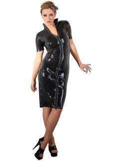 Latexové šaty s dvoucestným zipem (LateX)