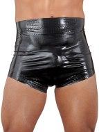 Pánské latexové oblečení: Černé latexové plenkové kalhotky, unisex