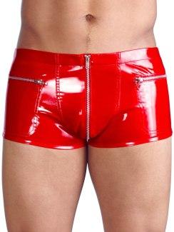 Lakované boxerky, červené