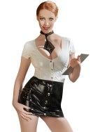 Dámské lakované prádlo (lack, vinyl): Lakovaný kostým Sekretářka (Black Level)