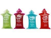 Lubrikační gely s příchutí, na orální sex: Lubrikační a masážní gely 4 v 1 Wet Fun Flavors (sada 4 ks)