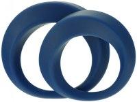 Nevibrační erekční kroužky: Sada erekčních kroužků Perfect TWIST (2 ks)