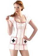 Dámské lakované prádlo (lack, vinyl): Lakovaný kostým Zdravotní sestra (Black Level)