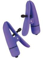 Skřipce a svorky na bradavky: Vibrační svorky na bradavky Nipplettes Purple