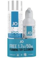 Lubrikační gely na vodní bázi: Lubrikační gel System JO H2O + čisticí pěna na erotické pomůcky