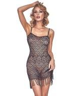 Sexy dámské šaty a minišaty: Úžasné vintage krajkové šaty s třásněmi Physis