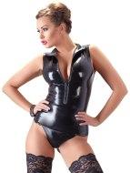 Dámské latexové oblečení: Latexový top s límečkem a zipem