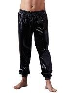 Pánské latexové oblečení: Volné latexové kalhoty s elastickými lemy